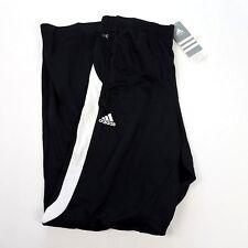 NWT Adidas Climalite Performance Training Pant Black/White Med Fleece Lined $45