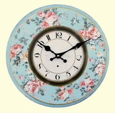 Jones Home and Gift Floral Clock Multi-colour