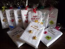 Geschenkbeutel 1 Gästetuch Handtuch bestickt mit Sprüchen