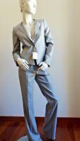 ❄New# MAX MARA Grey Wool&Silk Pants SUIT, size 10 USA_ 12 GB_ 40 D_44 I_ 42 F