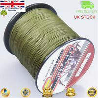 Super Dyneema 100-2000M  12-90LB Fishing Braid Carp Line Army Green Spod Marker