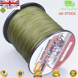 Super Dyneema 100-2000M 12-90LB Fishing Braid Carp Line Army Green Spod Marker F