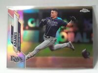 2020 Topps Chrome Willy Adames Refractor Tampa Bay Rays #179 Baseball Card