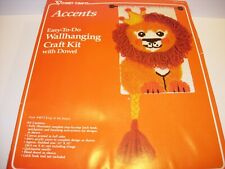Vogart Latch Hooking Wall Art Kit King Of The Jungle Lion Rug 12X32 Vintage