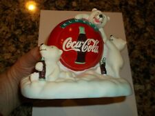 Coca-Cola Polar Bear Piggy Bank Hard Plastic Piggy Banks Bears Coke Soda 1997