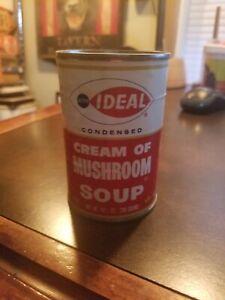 Vintage Ideal ACME Markets Philadelphia Pa Tin Soup Can CREAM OF MUSHROOM