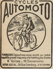 Y8059 Cycles AUTOMOTO - Pubblicità d'epoca - 1920 Old advertising