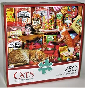 Buffalo Games CATS SWEET SHOP KITTENS 750 Piece Puzzle Complete