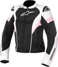 ALPINESTARS Women's T-GP PLUS R AIR Motorcycle Jacket (Black/White/Pink) Medium