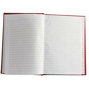 A5 A-Z INDEXED HARD BACK BOOK (RED) -   Choice of quantity with FREE P&P