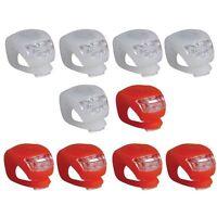 10Stk/Set Fahrradlampe Fahrrad LED Silikon Lampe Frontlicht Rücklicht Radlicht