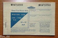 Motor Fuel Ration Book 1101-150 0cc/10-1 3 HP
