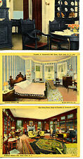 FDR Historic Views Roosevelt Home-Hyde Park-New York-Vintage Postcard Lot of 6
