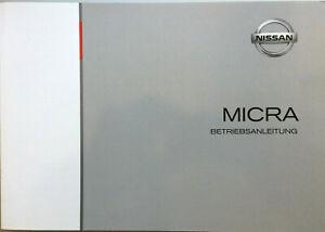 Nissan Micra K12 Betriebsanleitung Bedienungsanleitung Bordbuch 2010