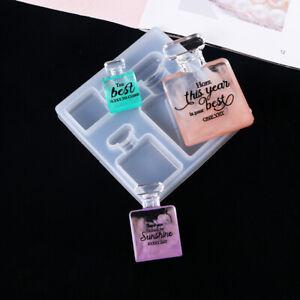 Perfume Bottle Silicone Resin Epoxy Mold Pendant Jewelry Making Mould Craft DIY