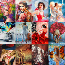 Beauty Women DIY Paint By Number Kit Acrylic Oil Painting Art Wall Home Decor