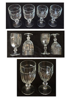 VINTAGE Libbey Duratuff GIBRALTAR Drinking Glass Goblets CLEAR Set of 4