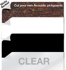 Acoustic 25cmx10cm Self Adhesive Scratch Plate Pickguard Sheets PG11b