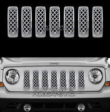 2011-17 Jeep Patriot CHROME Snap On Grille Inserts Front Grill Slot Vent Covers