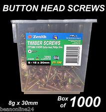 Button Head Stitching Screws BULK 8g x 30mm - Box of 1000