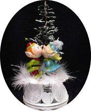 CHRISTMAS Elf Santa helpers winter wonderland WEDDING Cake Topper Top Funny snow
