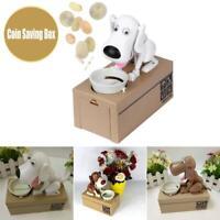 Kids Gift Piggy Bank Hungry Eating Dog Coin Money Saving Box Choken Robotic Mec