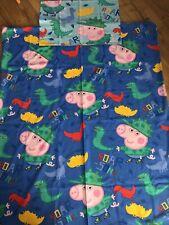 LOVELY Peppa Pig Dinosaur Cot Bed Set Toddler Bedding
