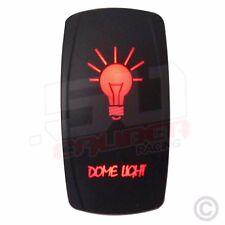 12V Rocker Switch LED Backlight Dome Light RV Toy Hauler Diesel Semi Truck Red