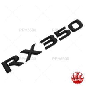 Lexus Liftgate Gloss Black RX 350 Letter Logo Badge Car Emblem Replace F-Sport
