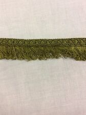 Over 18m Olive Green Silky Fringing New 3cm