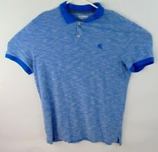 Express Pique Polo Light Blue Size Large Short Sleeve Modern Fit