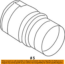 FORD OEM Turbo Charger-Intake Hose Tube Duct 6C3Z6C640B
