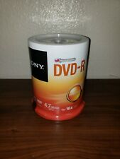 NEW Sealed SONY AccuCore DVD-R 1-16x 4.7GB 120 min 100-Pack Spindle 100DMR47RSP