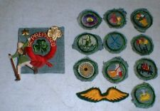 Lot-15 Vintage 1940's GSA Girl Scout Merit Patches Leader Hiker Pin Golden Wings