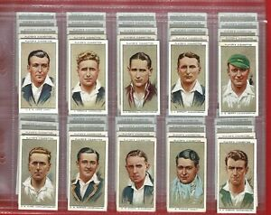 CRICKETERS 1938 - PLAYERS -  1934 CRICKET CIGARETTE CARD SET in Sleeves (SK10)