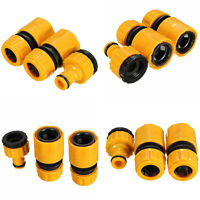 """New 3PC 1/2""""3/4"""" Garden Hose Water Tube Quick Connector Tube Fitting Tap Adapter"""