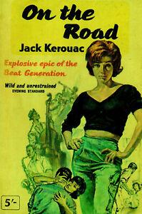 ON THE ROAD. JACK KEROUAC. Repro mini print. Beatnik,