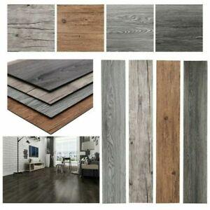 5m² Floor Planks Tiles Grey Brown Oak Self Adhesive Wood Effect Vinyl Flooring Q