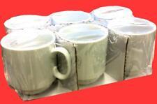 6 Stück Porzellan Kaffeebecher Trend 275ml weiß stapelbar Becher Kaffeepott