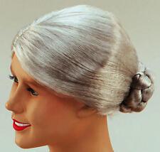 Grey Old Lady Wig Granny Grandma Nan Fancy Dress Wig Bun