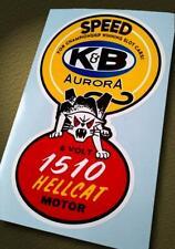 Vintage Style K&B • 1510 HELLCAT 6 Volt Motor • Slot Car Sticker • Pit Box Decal