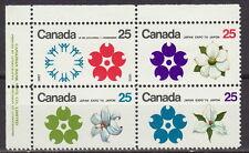 CANADA #508-511 25¢ Osaka Expo '70 UL Plate Block MNH