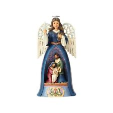 """Jim Shore """"A Savior For All"""" Nativity Angel With Pierced Wings ~ New ~Mib"""