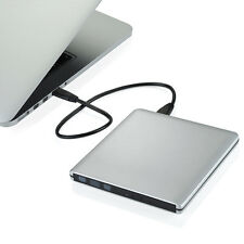 USB 3.0 Ultra Slim External Optical CD/DVD-RW Burner Writer Drive For PC MAC Pro