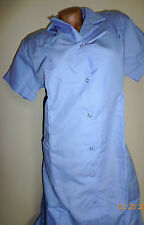 Best Medical Nurse Collared Dress 8 Snaps Front 2 pockets Blue Size 3X Tall