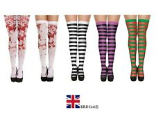HALLOWEEN HOLD UP STOCKINGS TIGHTS White Blood Stained Zombie Stripey Bloody UK