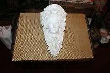 Vintage Plaster Gothic Medieval Wall Shelf Womans Face