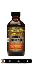 Jamacian Mango & Lime Black Caster Oil Orginal & Extra Dark (4oz, 8oz)