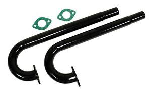 Air-Cooled VW Bug / Ghia / Bus EMPI Heater Box J-Tubes, Black