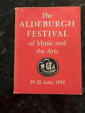 1959 Vintage Aldeburgh Festival of Music and the Arts PROGRAMME